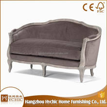 Hot Selling banquet chairs purple long sofa furniture