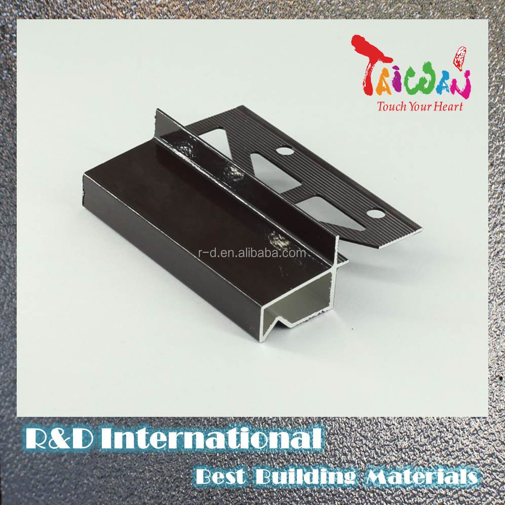 Taiwan Metal Roof Coping Aluminum Profile Free Sample Tile Trim