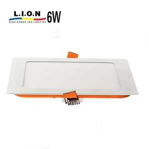 New product energy saving ultra thin dimmable 6w led panel light price list