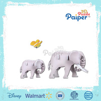 3d animal puzzle paper models elephant toy