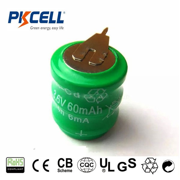 Industrial packing 1.2v 2.4v 3.6v nicd rechargeable battery b60k b100k b120k b170k b280k b9v120 button cell