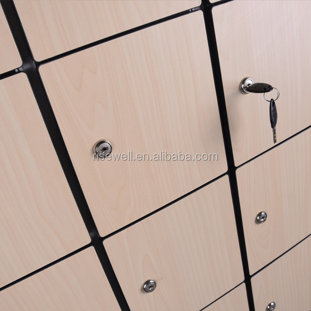Debo high quality plain color solid phenolic hpl locker for changing room used