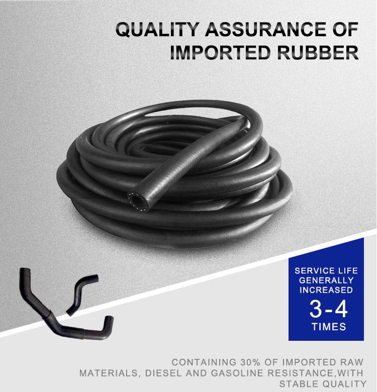 Flexible NBR wire braided rubber petrol diesel fuel oil suction pipe hose