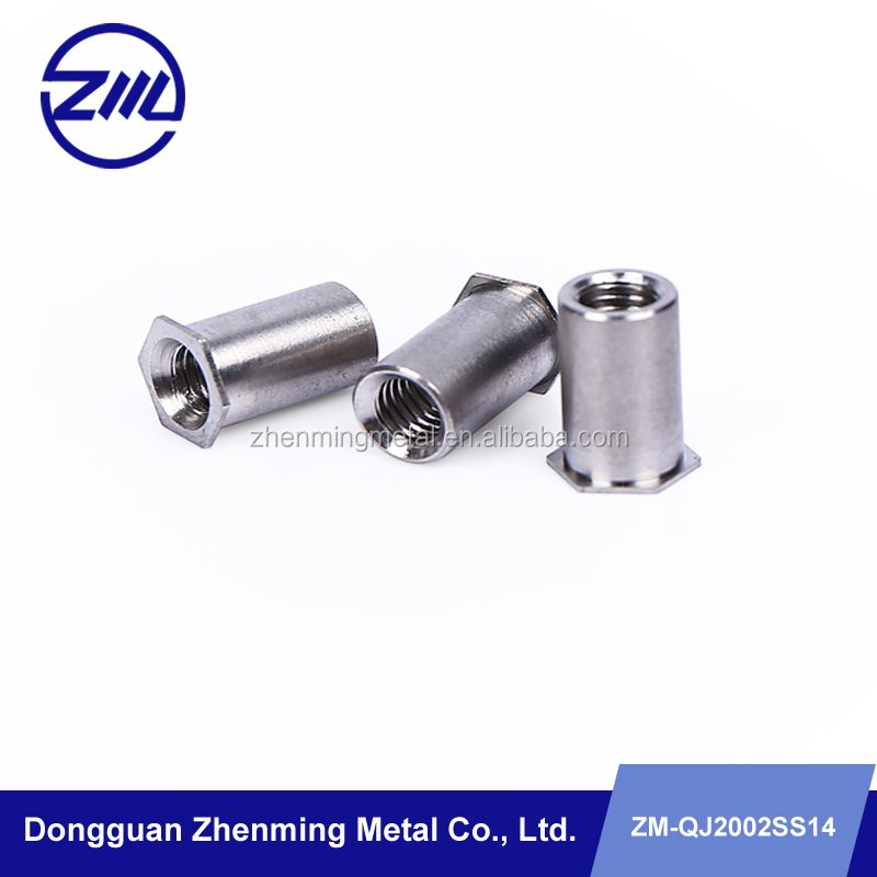 stainless steel hexagon blind rivet with thread cnc manufacturing