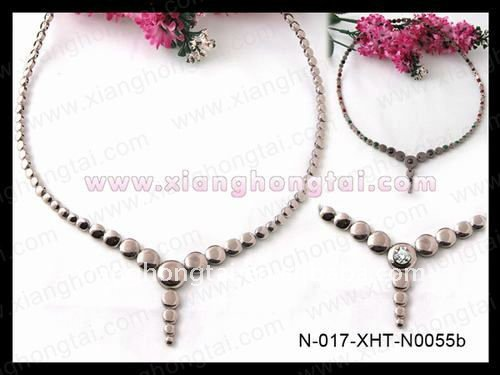 Hot selling bio necklaces, Christmas jewelry, magnetic titanium necklaces with germanium/ magnets/negative ion/ FIR