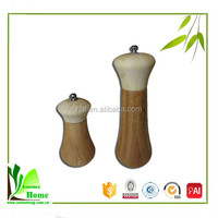 Bamboo Oil Vinegar Cruet Set Salt and Pepper Cruet