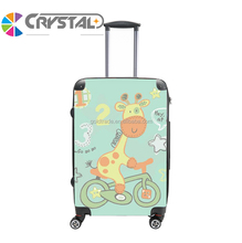 Customized Design 2017 four wheels ABS/PC Lovely child luggage kids trolley luggage