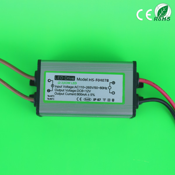 4W 5W 6W 7W LED constant current driver IP65 waterproof