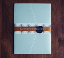 modern letterpress cards handmade pocket folder with wax wedding invitations