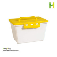 5L Square Plastic Tool Kit with Handle and Lid