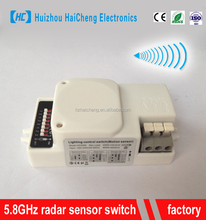 5.8GHz CE standard 220v doppler microwave radar sensor switch