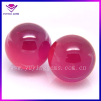 5mm round Synthetic Loose Ruby Corundum Bead