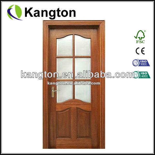 acajou bois placage verre de porte en bois portes id de. Black Bedroom Furniture Sets. Home Design Ideas