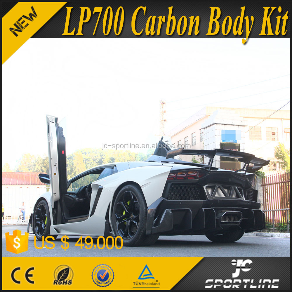 2015 Brand New Full Carbon Fiber Car Rear Bumpers for Lamborghini Aventador LP700 D Style