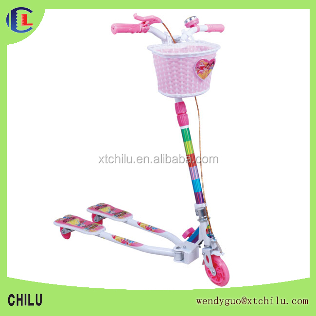 Hot Sale 3 Wheels Foldable Frog Scooter Pink Blue Black Green