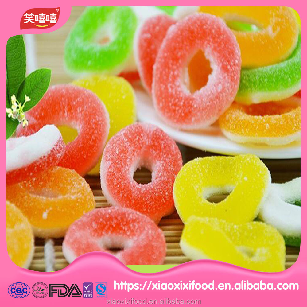 circle shape gummy candy key shape gummy candy custom gummy candy