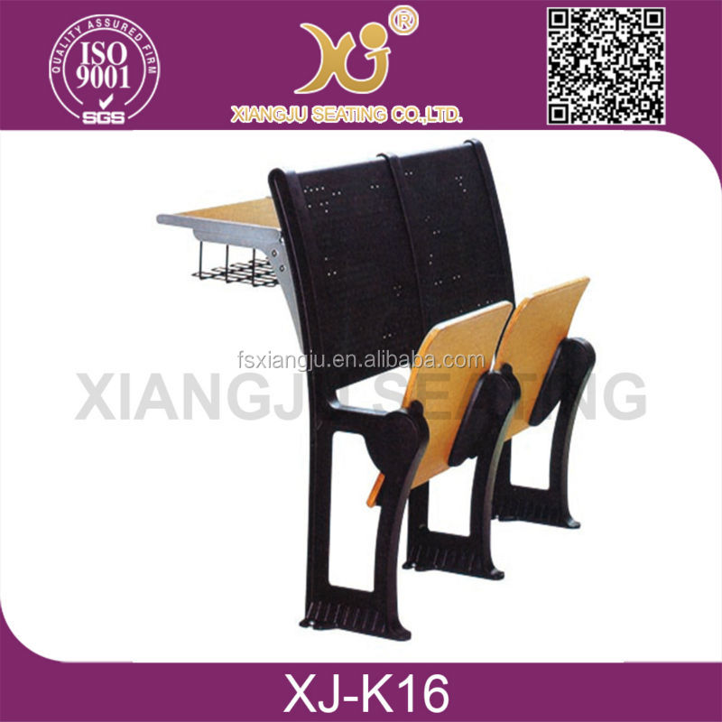 XJ-<strong>K16</strong> without armrest high quality school desk with attached chair for sale
