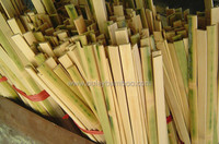 Planed nature color bamboo strips for furniture