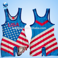 Super quality most popular superman customized wrestling singlet/OEM wrestling singlet/wrestling singlet