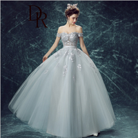 Clothing romantic lady pretty best quality off-should sweet tutu formal dress for wedding occasions