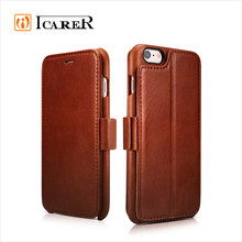 ICARER Leather Wallet Case for iphone 6 and 6 plus Flip Cover with Stand Function