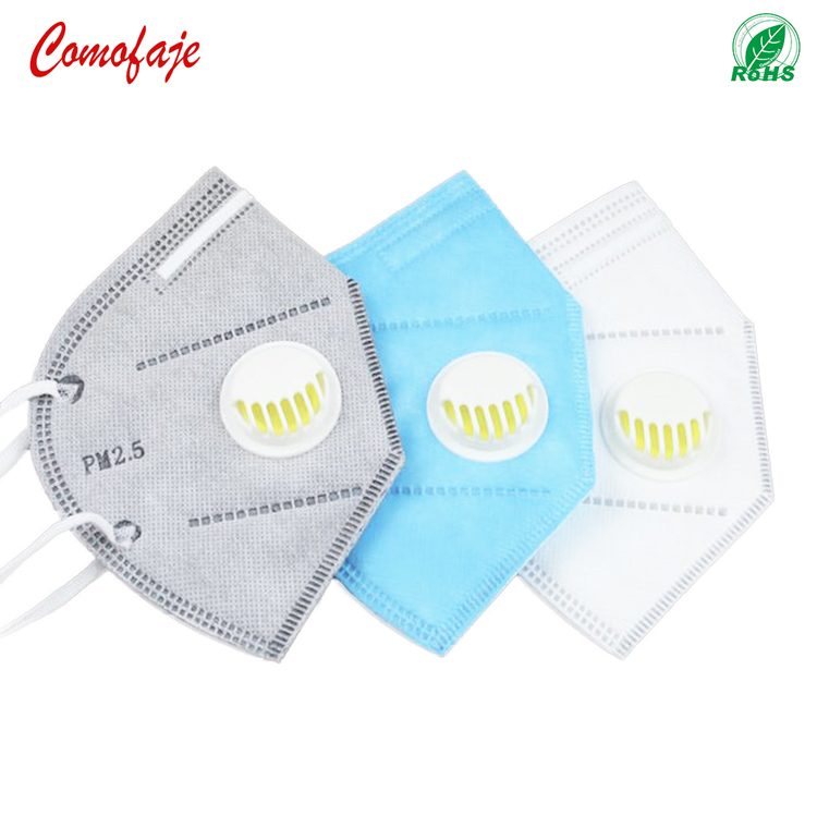 Safety protective activated carbon breathing valve anti dust face mask