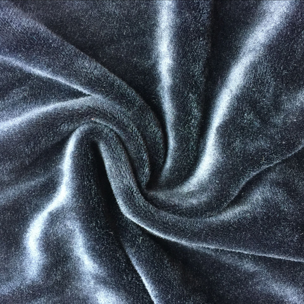 poly/spandex micro fiber super soft velvet for pajamas cloth lining