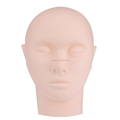 Grafted Eyelash Extension Mannequin Flat Head Practice Makeup Mannequin Modle Cosmetology Manikin Head For Beginner