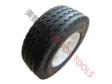 "6"" 6X2 toy wagon pu rubber material plastic rim wheel"