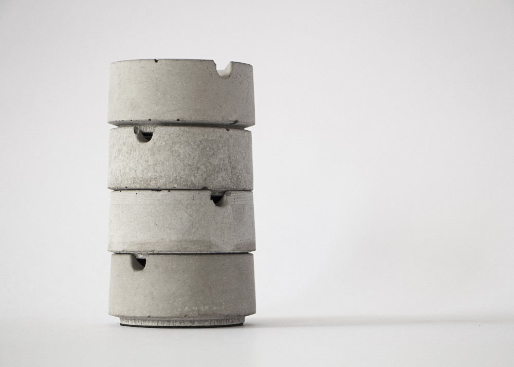 HILL Ashtray cement product design by BENTU