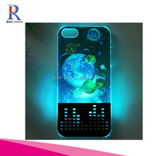 Skeleton Scary Ghost Hard 3D Skull Gothic Illusion Case Cover - With 3D Flash Call Indicator LED Light
