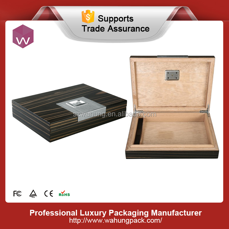 A briefcase shape bamboo wood cigar boxes with aluminium outside