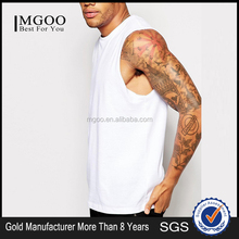2017 Mgoo Blank Sleeveless T Shirts GYM Wear 100% Cotton Men Tanks Custom Plain Sportwear Vest