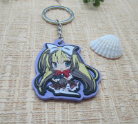 Beautiful Girl Rubber Keyring Promotional Gift Soft PVC Key Chain