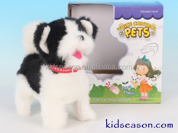 ELECTRONIC SOUNDS CONTROL PLUSH DOG WITH ACTION KS064259