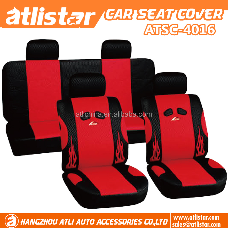 Economic customized Full set front seat and rear seat car seat cover