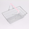 547-64D popular hand carry metal wire mini shopping basket for supermarket