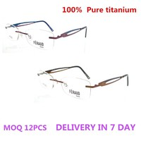 2015 100% Titan OPTICAL FRAME rimless eyeglass framestepper titanium eyeglass frames titanium eyeglass frames for men