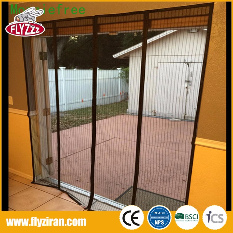 New product diy polyester anti insect mosquito screen net magnetic door curtain for home