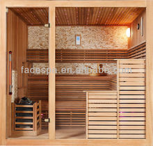Canada Wood types, Royal Red Cedar Dry Sauna Room for 3-6 Person with CE certificate,FS-1233