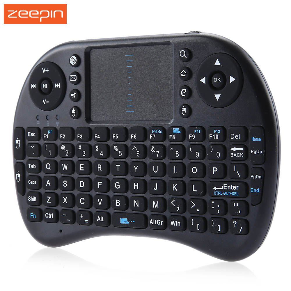 New Mini KP-810-21 2.4GHz Wireless Handheld Qwerty Keyboard Touchpad Mouse iPazzPort Portable for Smart TV Box/Raspberry Pi/HTPC