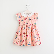 BSD1439 Small MOQ Children Daily Wear Clothes New Design Strawberry Printing Kid Girl Dress