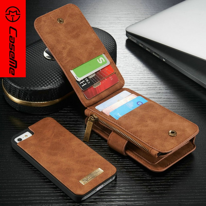 Factory Price PU Back Cover Case for iphone 5s Case,Credit Card Slot Wallet PU Leather Phones Case for iphone 5s