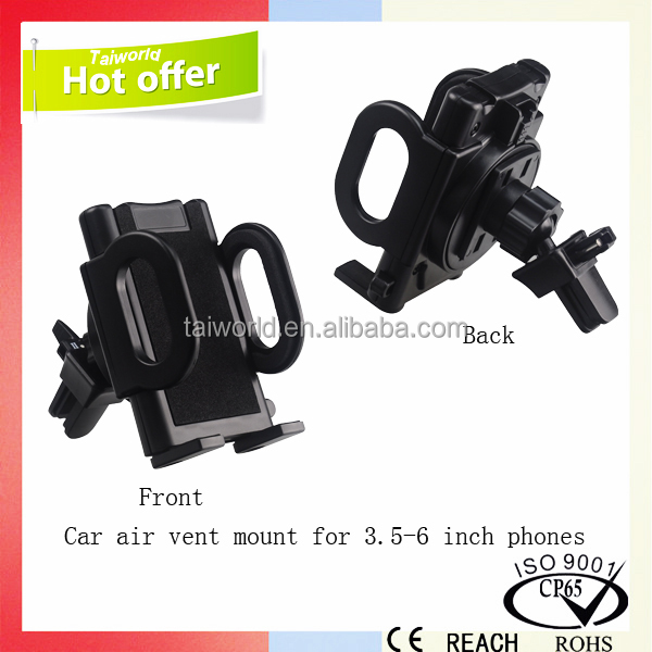 Universal Air Vent Mount Rotatable Cell Phone Stand Support Car Holder Bracket Kit