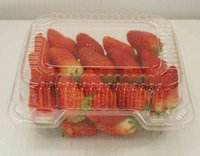 clear plastic box packaging for strawberry