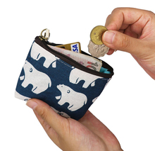 Modern Small fancy portable leather coin purse
