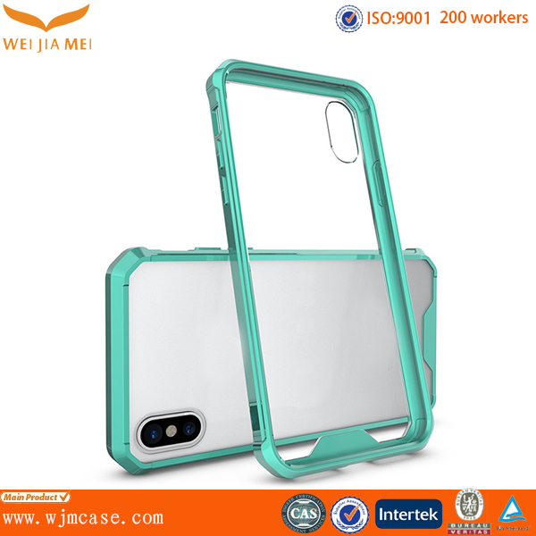 Transparent Tpu acrylic for iphone x case, For iphone x Tpu case
