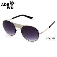 ADE WU china own design simple round lens wide bridge sunglasses STY1878