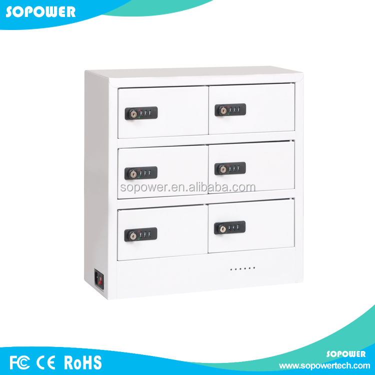Multi Electronic Device Charging Station/Metal Safe Lockers For Mobile Phone /Tablets