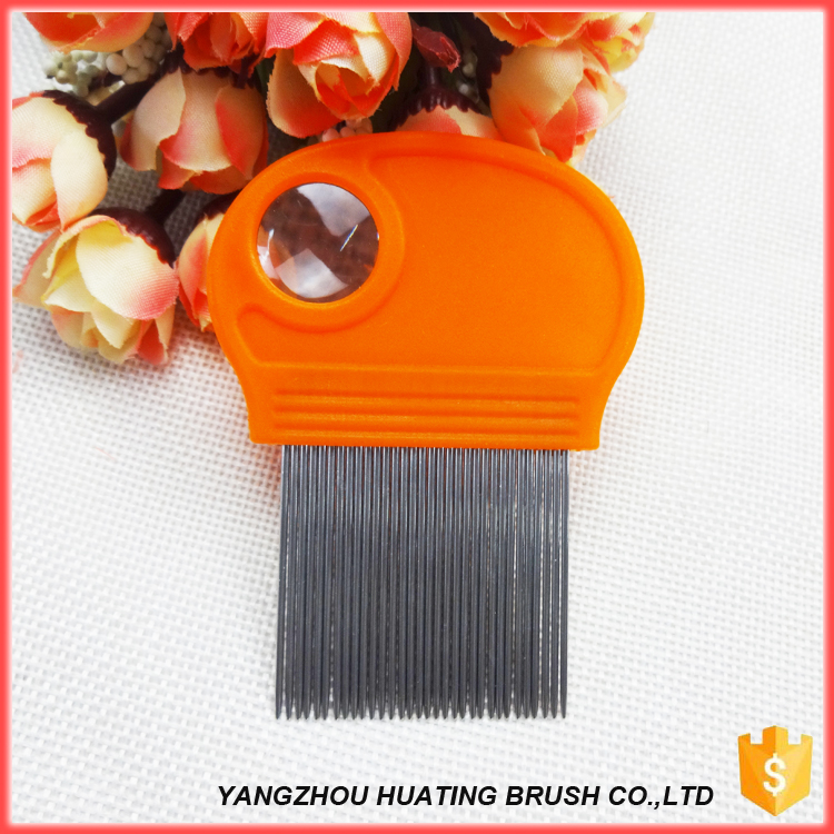 OEM branded durable round plastic handle pet clean comb for hair